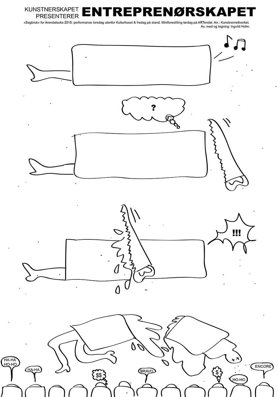 Flyer. Tegning: Ingvild Holm
