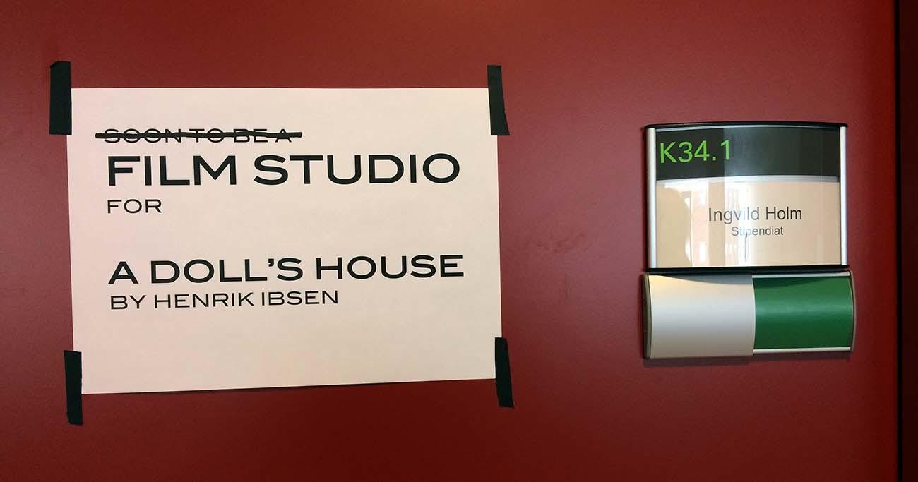 Research Office as Filmstudio. Foto: Ingvild Holm