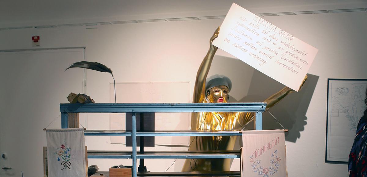Performance Norrbotten Museum, Luleå Biennial. Photo: Gustaf Nordenskiöld.