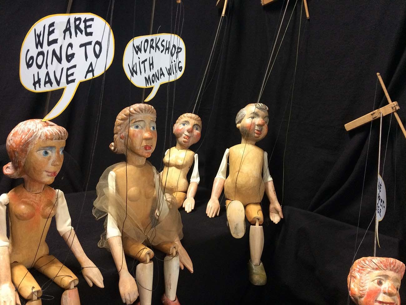 We are going to have a workshop with Mona Wiig, the puppeteer. Foto: Ingvild Holm